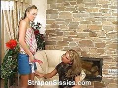 Stephana&Gilbert female dressed couple in action