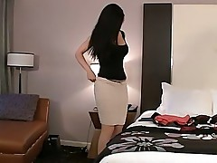 Desiree thoroughly preparing her ass and cum-hole in advance of sex