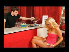 James Dean is a bartender at the local pub. Life was great for him until this snobby whore showed up and tried to jack his tip jar! This Guy catches Dylan red handed and exposes the truth to her but this babe didn't desire to listen... This Chab gives a decision enough is sufficiently...This little wang craving snob got what that babe wanted...  Punishment warranted!