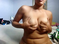 Cute corpulent girlfriend makes a porn tape for her boyfriend by dancing her curvy body around for the cam and playing with herself. She bows over to give a intimate look at her snatch and asshole.