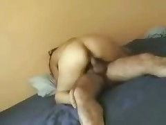 Attractive woman rides husband's firm schlong and cries out loudly because she feels lots incredible orgasms.