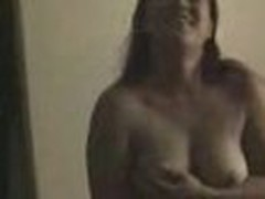 Insatiable and wild, this chunky chick loses any control when sees home camera in her lover's arms. That babe exposes big mambos and eats pecker.