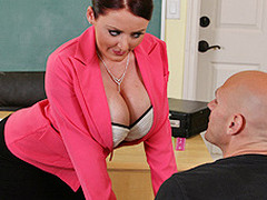 Johnny's new substitute teacher is one hot large-titted cutie... That Babe has Johnny daydreaming about a hawt fuck session in the class!!! Turns out poor Johnny wasn't dreaming entirely after all...