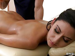 Nikki Daniels is hot bitch with a hot gazoo and very hot body. Look how much she enjoys having a pair of hand on her gazoo and how he touches her constricted pussy getting her horny. Are her long legs and her hot body gonna bring her any cock?
