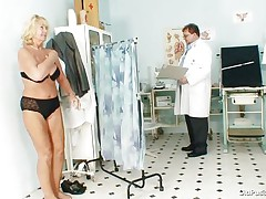 Greta often visits her doctor to check her body. Whilst she reaches there her doctor ordered her to put all her clothes off and then this guy starts his pussy scrutiny right after this guy squeezes her nice boobs. You rally needs to see where this doctor ends up his examination.