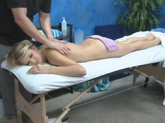 Hot and hot 18 year old acquires drilled from behind by her massage therapist