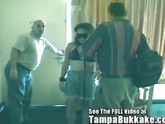 Blindfolded Slut Gets A Tampa Bukkake Motel Banging!