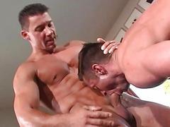 Hawt looking stud licks his juicy asshole