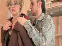 Sexy granny sucks and bonks weenie