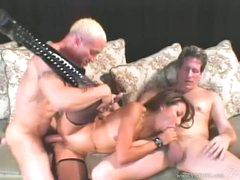 Nasty asian Keeani Lei gets her pussy pounded whilst engulfing on a hard prick