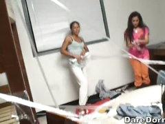 Plastic wraps in the dorm room