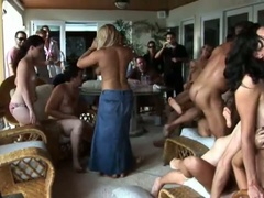 Hot summer party with an orgy of sucking and fucking