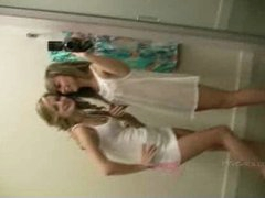 Rilee and Sara get in nature's garb in the dressing room