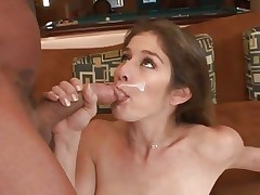 Raunchy babe Felony loves guzzling down warm cum