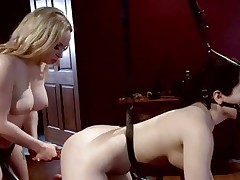 Dominatrix Aiden Starr likes toying her partners a-hole
