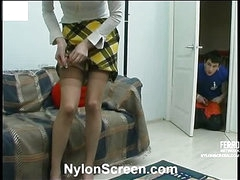 Ninette&Vitas nylon couple in action