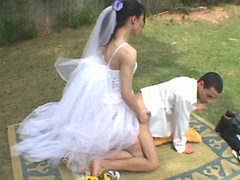 Wedding ceremony with tgirl bride results in sore a-hole of her wicked fiance
