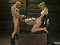 Chastity Lynn is a uncomplaining beauty desirous to fulfill her darksome sexual desires. Aiden Starr and her friend Derrick Pierce are there to give her what she needs. The older hot honey with a ding-dong goes on and copulates her bald pussy, while the white chap bashes her face hole roughly. They have a great time together.