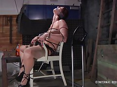 This is art, and as u can see in the 1st scene we have a brown haired doxy tied on a char and punished with electric shocks on her pussy. Then we acquire to see the same bitch and another one tied in position 69 on the bed. If it excites u then why not see it, it surely deserves your time and attention!
