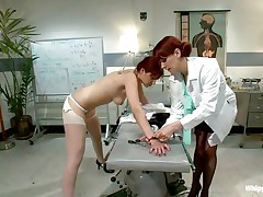 This is the kind of doc that you will barely await to see. She's a devilish redhead with a excitement to dominated, especially other sluts! Her patient came for a routine check and discovered herself undressed and wazoo slapped until that hot wazoo turned red. Now that the doc slapped her she licks her booty with passion.