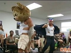 Office party with male stripper