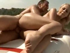 Bitch on a boat has great large natural tits