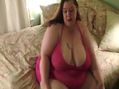 Very big sweethearts strips down to her panyhose and then shows big ass