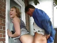 Impatient German girl acquires pounded
