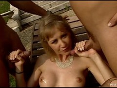 Large Breasted MILF In Lingerie Fucked Hard In Threesome