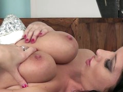 Dark brown Lexi Lowe with appealing big breasts