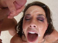 Chanel Preston gets her face plastered with hot cum