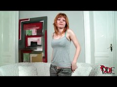Legal age teenager redhead has perfect perky tits