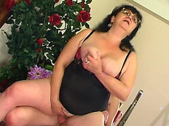 Mother I'd Like To Fuck in-heat ready for the interview after wild shagging with an applicant