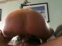 This gal is taking a strap-on sextoy in her ass. Her hubby fills her wazoo with it hard. Then she sucks his ramrod and finishes with his dick in her pussy