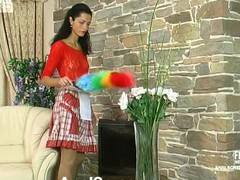Sexually excited French maid doesn