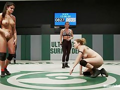 Eager meaty strumpets are fighting naked because they want to win the ultimate prize, to dominate the other player. If the doxies touch their opponent`s love tunnel and licks it or fingers it, they will surely win the fight. Hawt grips aid a lot to reach the cunt easier. Sometimes it feels to good to move aside!