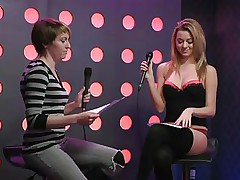 2 sexy beauties speak live about sex in a jewish manner. They are broke and trying to buy something, but don`t have sufficiently money. These jokes about sex are indeed turning 'em on. Besides looking for Mr. Right, the golden-haired wants to go down on her girlfriend for some money. This babe takes her bra off, it`s so hot.