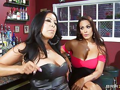 Kiara Mia and Nina Mercedez are 2 sexy MILFs these love to play lesbian often. In a bar, these 2 were alone and their homosexuality jumps out of their cages for a dominating hardcore lesbian love. One of them got rough with one more one and made her to strip, suck boobs & nipples, get ass slapped and pussy licked.