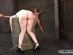 You can do what you wish with Dixon. She's a worthless bawdy cleft and loves being treated that way. When the stud finds that his spankings are not enough he calls for a friend to help him. They make her ass red from all that beating and then the pang turns to enjoyment as a marital-device acquires put on her pussy.