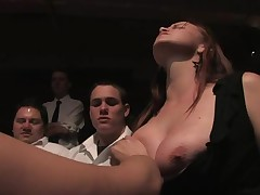 Worthless bitch must endure a gruelling public punishment
