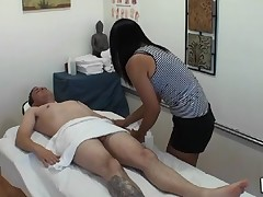 Dude gets double fun from massage and sex