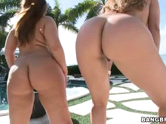 2 big soaked butts of your viewing pleasure