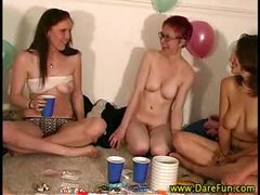 Real all girl party gets messy