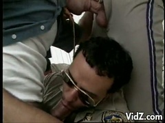 Mature dudes and dilf cops sexy rod sucking fuckfest