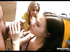 Brunette BrAndi Belle Gets Her Face Cummed After A Naughty Hawt Tugjob