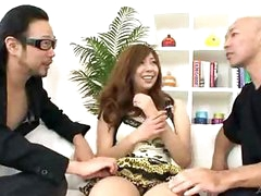 Hairy Oriental snatch filled with jizz