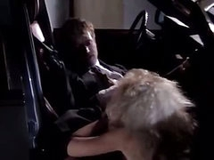 Vintage sex in the car with beautiful curvy girl