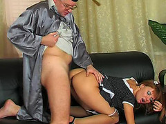 Hawt coed going to the professor to take supplementary fucking and engulfing lessons