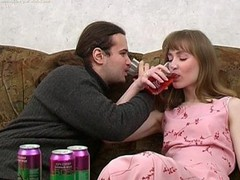 Ivan and Nelly are enjoying wine coolers that are made specifically to receive a whore drunk and the chick drinks down as much as that chap gives her. The greater amount this chab pours the greater amount that chick drinks and when this chab peels a banana for her to eat this chick can't aid but oblige his naughty desires. When a chick chews a phallic fruit in such a lusty manner it's bound to receive a chap all lustful and aroused. A little greater amount liquor and this guy's willing to make his move with this hot slut. That Babe gives him head and then this chap pounds her fur pie missionary and doggy style. It's great drunk hardcore sex for sure
