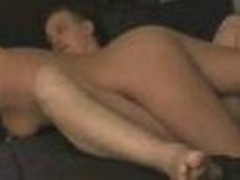 This is an amazing clip of a wife pleasing her husband. It begins of with the lady playing with his dick and balls while this guy lays back and enjoys. She then gets on top of him and rides him slow and smooth in different ways until this guy cums inside her.